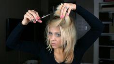 SELBERMACHEN: Weicher Stufenhaarschnitt bei langen Haaren zu Hause.