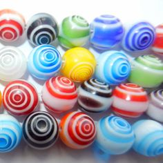 Round Glass Circular Beads by CloudNineSupplyShop on Etsy, $6.50