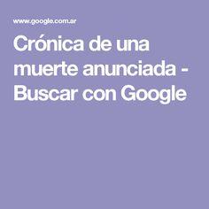 Crónica de una muerte anunciada - Buscar con Google