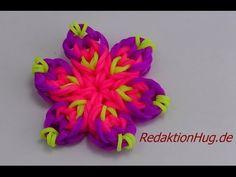 Loom Bands ohne Rainbow Loom Anleitung Deutsch Blume K