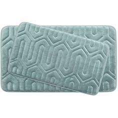 Thea Large 2 Piece Premium Micro Plush Memory Foam Bath Mat Set