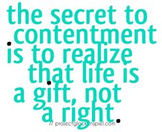 life is a gift....