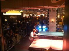 Bounce in London, Greater London - playing pingpong while drinking beer London Places, Greater London, Covent Garden, London Travel, Four Square, Things That Bounce, Drinking, Beer, Beverage