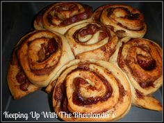 Bacon wrapped in cinnamon roll... Was a success!