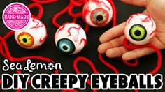 DIY Creepy Eyeballs with Sea Lemon - HGTV Handmade