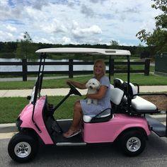 """Custom """"Barbie Cart"""" EZGO"""