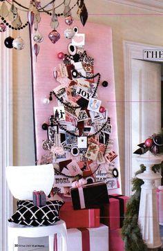Christmas card tree - how cool