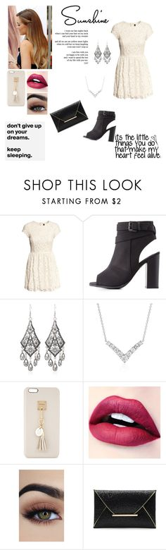 """""""Happiness Is Key"""" by blondypup ❤ liked on Polyvore featuring H&M, Charlotte Russe, Blue Nile and Iphoria"""