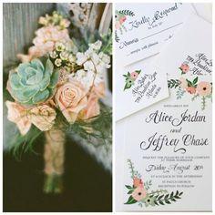Şeftali, krem ve mint tonları bir bahar düğünü için mükemmel renk paletini oluşturuyor.