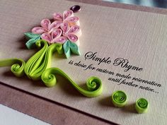 Bouquet of flowers card - quilling