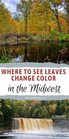If you are looking for the best Midwest weekend getaways to visit this fall, we have some ideas. These destinations are the best places to see fall colors in the Midwest, and we know they don't disappoint. Where will you go first? - Kids Are A Trip |Midwest vacation| fall travel| fall travel ideas| fall travel destinations