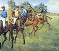 edgar degas pastels | race horses edgar degas pastel 1873 cleveland museum of art united ...