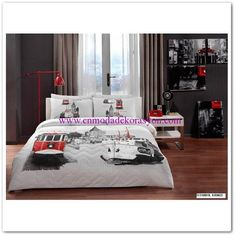 Taç İstanbul Çift Kişilik Her Mevsim Nevresim Seti Bed, Furniture, Home Decor, Decoration Home, Stream Bed, Room Decor, Home Furnishings, Beds, Arredamento