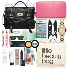 """""""dream bag / what's in my bag"""" by florencia95 on Polyvore"""