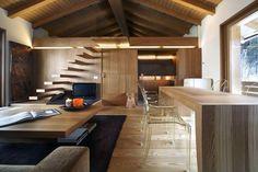 + Design de interiores :     Projeto de Gianluca Fanetti, para a residência localizada em Campodolcino (Itália).