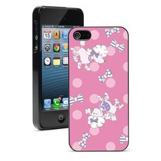 For Apple iPhone SE 5 5S 5c 6 6s 7 Plus Hard Case Cover 1321 Poodles Bows Pink