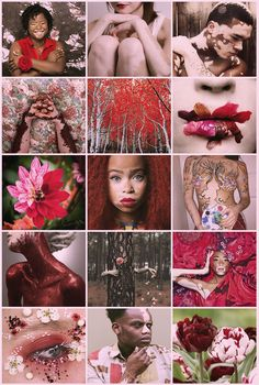 Red And White Flowers, Red Flowers, Black Girl Art, Art Girl, Black Art, Chantelle Brown Young, Vitiligo Skin, Red Spider Lily, Color Naranja