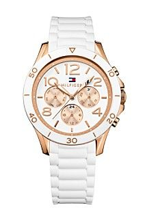 Rose gold sport watch from Tommy Hilfiger- perfect for spring!