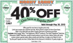 14 best deals images on pinterest printable coupons coupon and hobby lobby coupon hobby lobby promo code from the coupons app off a single item at hobby lobby or online via promo code 2949 december fandeluxe Gallery