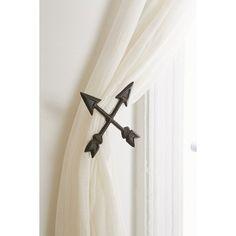 bow & arrow finials | curtain rod finials, bow arrows and arrow