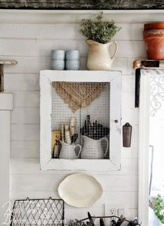 ideas to decorate crates | Salvaged kitchen decorating ideas, from crates to sawhorses!