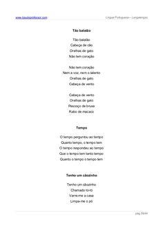 rimas e lenga-lenda em português de Portugal infantis - Pesquisa Google Personalized Items, Children Rhymes, Cat Ears, Lyrics