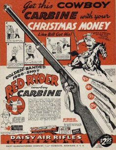 Celebrities who wear, use, or own Red Ryder BB Gun. Also discover the movies, TV shows, and events associated with Red Ryder BB Gun. Christmas Story Party Ideas, Christmas Story Movie, Vintage Christmas, Christmas Holidays, Merry Christmas, Happy Holidays, Holiday Movies, Christmas Decorations, Christmas Scenes