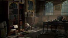 Capitain's cabine, Hippolyte Pitoiset on ArtStation at https://www.artstation.com/artwork/LZa3l