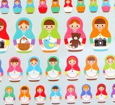 Deco sticker matryoshka russian dolls by beautifulwork on Etsy, $4.50