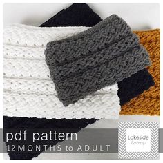 Stay warm this Fall by making your own cozy cable crochet cowl from this Lakeside Loops crochet pattern!  Scarf sizes include toddler, kids, teen, and adult.  Pdf includes written instructions, pictures, and even a video tutorial on YouTube.  As with all our patterns instructions are written for right AND left hand crocheters!