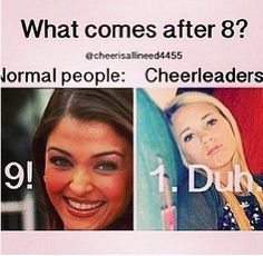 cheer quotes Haha i do this in class all the time Most people wouldnt get it-_- Funny Cheer Quotes, Cheer Qoutes, Cheer Funny, Dancer Quotes Funny, Cheer Sayings, Ballet Quotes, True Quotes, Funny Memes, Hilarious