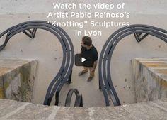 "Pablo Reinoso's ""Knotting"" sculptures in Lyon - ArtAndOnly Steel Sculpture, Event Marketing, Lyon, Art World, Knots, Sculptures, Platform, Journal, Watch"