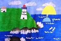 Maud Lewis Lighthouse art lesson