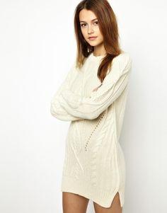 Vanessa Bruno Athã Sweater Dress in Alpaca Wool - Lyst