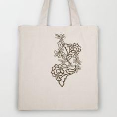 Romantic Modern Ornaments Tote Bag by patterndesign - $18.00    Artwork by Susanne Jocham