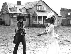 Brigitte Bardot and Claudia Cardinale on the set of Les pétroleuses (1971)