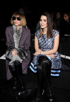 It wouldn't be New York Fashion Week at all without U.S. Vogue editor Anna Wintour. The fashion matriarch was joined by her daughter Bee Shaffer at the Prabal Gurung fashion show on Feb. 8, 2014.