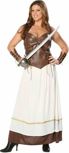 Viking Warrior Princess Plus Costume
