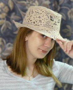 Advanced Embroidery Designs - FSL Battenberg Lace Summer Hat II.