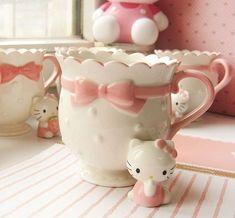 ❤Kawaii Love❤ ~Hello kitty mug Hello Kitty Mug, Hello Kitty Kitchen, Hello Kitty House, Hello Kitty Items, Hello Hello, Kitty Kitty, Cool Stuff, Vintage Pink, Hello Kitty Collection