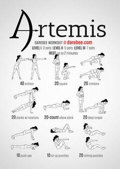 Artemis Workout | Repinned https://de.pinterest.com/muskelfarm/
