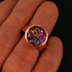 Bismuth Crystal Ring November 2017