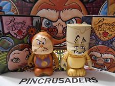"""Beauty and The Beast Disney Vinylmation 3"""" inch Lumiere & Cogsworth LOOK w/ Box"""