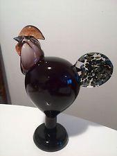 Oiva Toikka bird ROOSTER Art Glass Annual bird 1998 Iittala Nuutajärvi Finland!