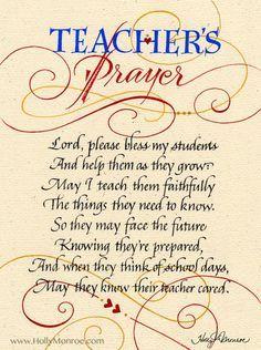 Teacher's Prayer   Holly Monroe Calligraphy – Holly Monroe and Clifford Mansley : Heirloom Artists