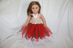 18in Doll Gingerbread Girl Tutu Dress by littleladiesthings