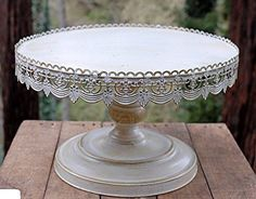 16in Vintage Distressed Wedding Cake Stand in Antique White SOC http://www.amazon.com/dp/B00NJEUDNS/ref=cm_sw_r_pi_dp_a-KBub0JT751P