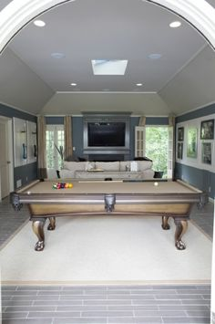 Charles Kelley of Lady Antebellum has one of the swankiest man caves. This pool table is beautiful. See MORE photos of his Man Cave here >> http://www.greatamericancountry.com/living/at-home/luxurious-outdoorsy-man-caves-pictures?soc=pinterest