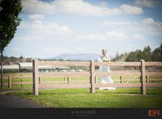 What a vibrant bride, walking around the pasture at Brasada Ranch. This is complete country!