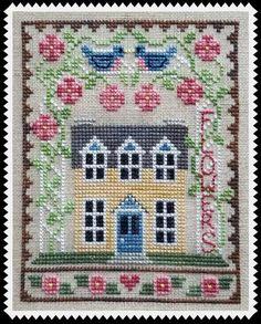 Cross Stitch House, Cross Stitch Samplers, Counted Cross Stitch Patterns, Cross Stitch Designs, Cross Stitching, Cross Stitch Embroidery, Embroidery Patterns, Hand Embroidery, Blackwork
